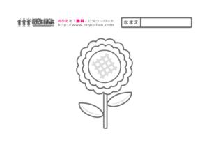花の無料塗り絵ヒマワリ