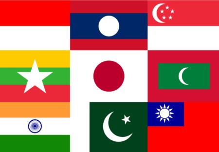世界の国旗クイズ動画アジア編 ぽよぽよ脳トレ