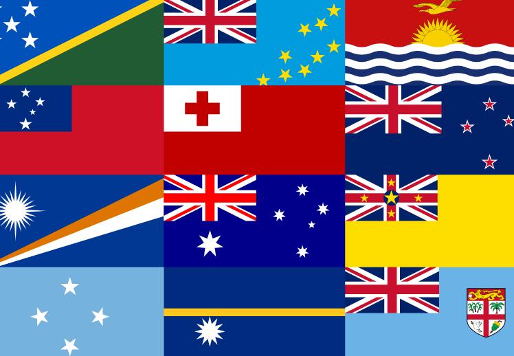世界の国旗を覚えるクイズ動画 (大洋州・オセアニア)