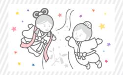 織姫と彦星|たなばたの無料ぬりえ